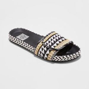 Dolce Vita | Annalyse Bohemian Woven Slide Sandals